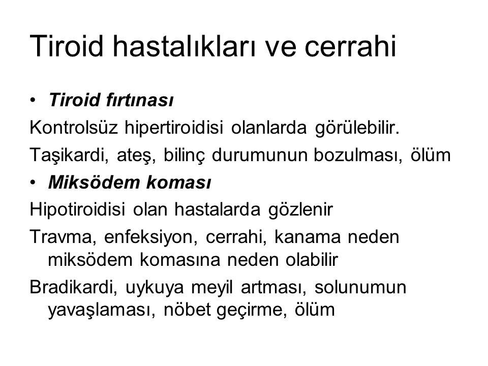 Tiroid hastalıkları ve cerrahi