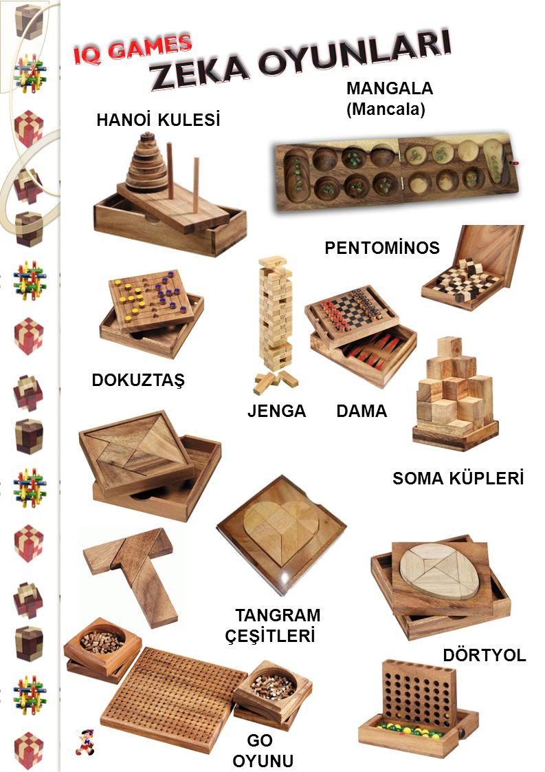 ZEKA OYUNLARI IQ GAMES MANGALA (Mancala) HANOİ KULESİ PENTOMİNOS