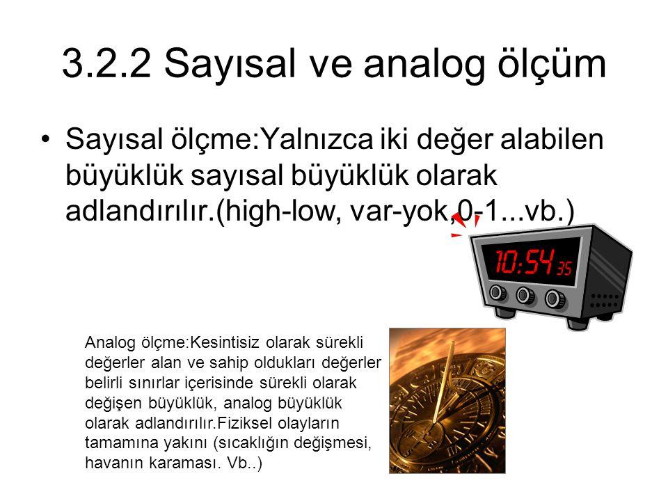 3.2.2 Sayısal ve analog ölçüm