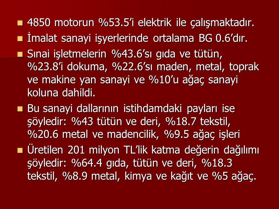 4850 motorun %53.5'i elektrik ile çalışmaktadır.