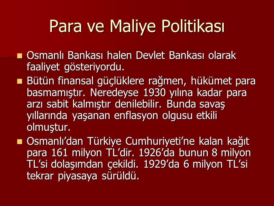 Para ve Maliye Politikası