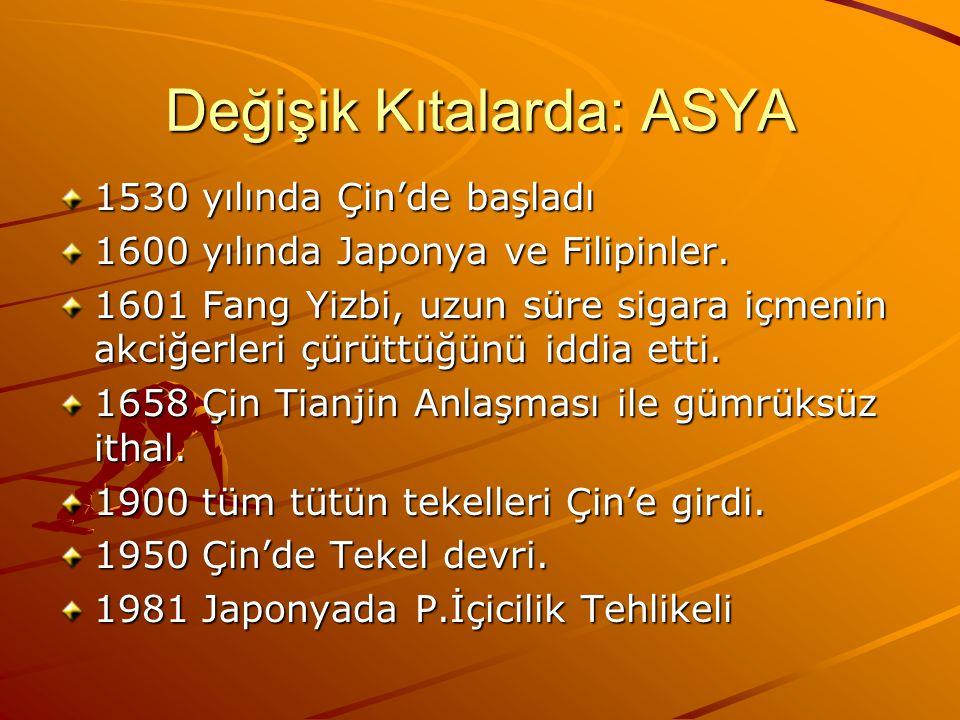 Değişik Kıtalarda: ASYA