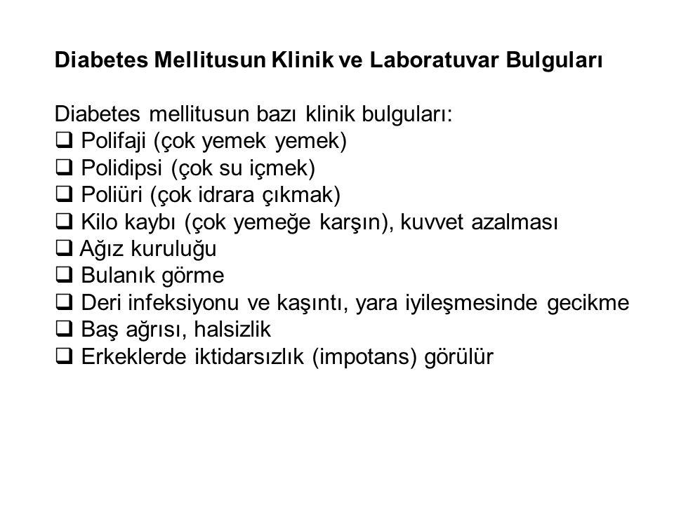 Diabetes Mellitusun Klinik ve Laboratuvar Bulguları