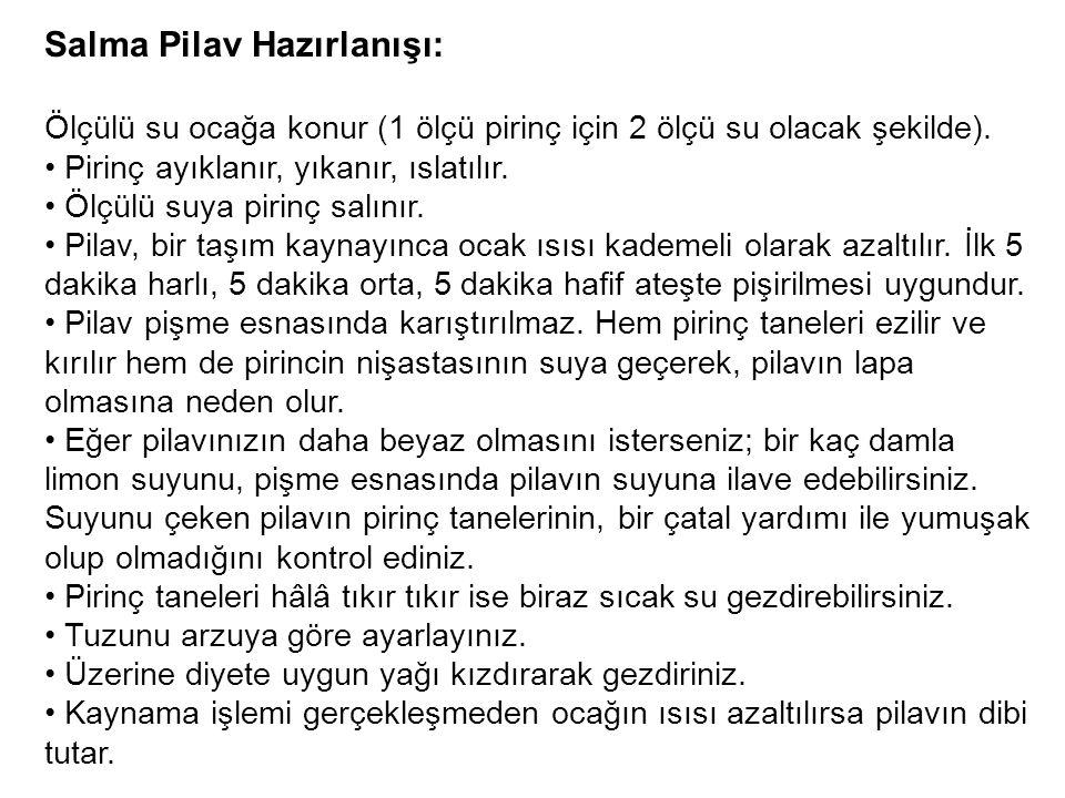 Salma Pilav Hazırlanışı: