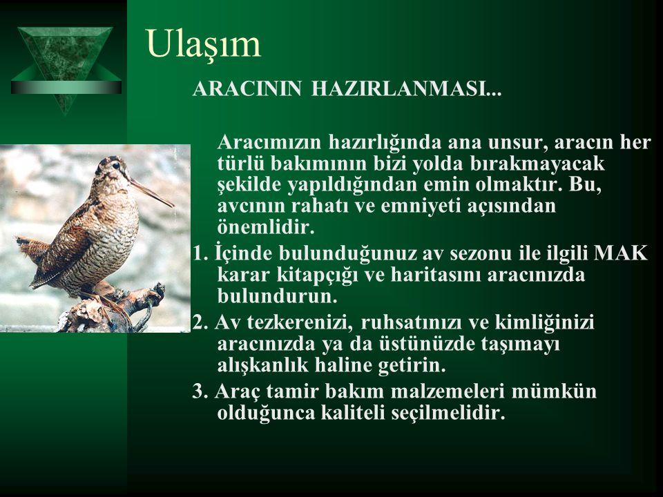 Ulaşım ARACININ HAZIRLANMASI...