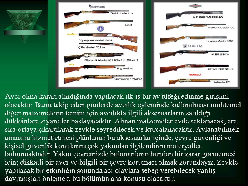 Avcı olma kararı alındığında yapılacak ilk iş bir av tüfeği edinme girişimi olacaktır.