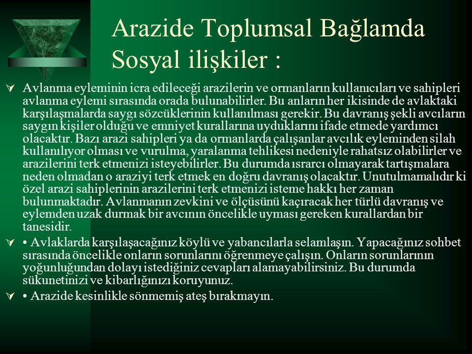 Arazide Toplumsal Bağlamda Sosyal ilişkiler :