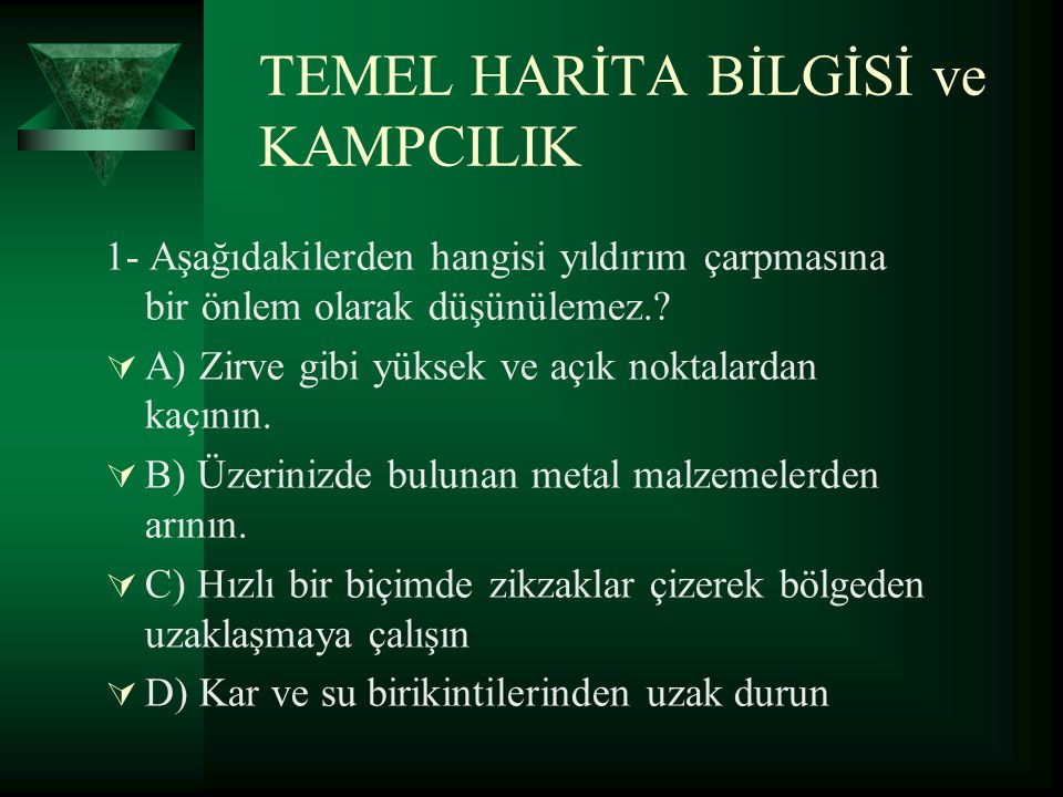 TEMEL HARİTA BİLGİSİ ve KAMPCILIK