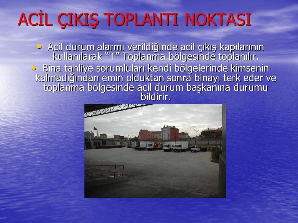 ACİL ÇIKIŞ TOPLANTI NOKTASI