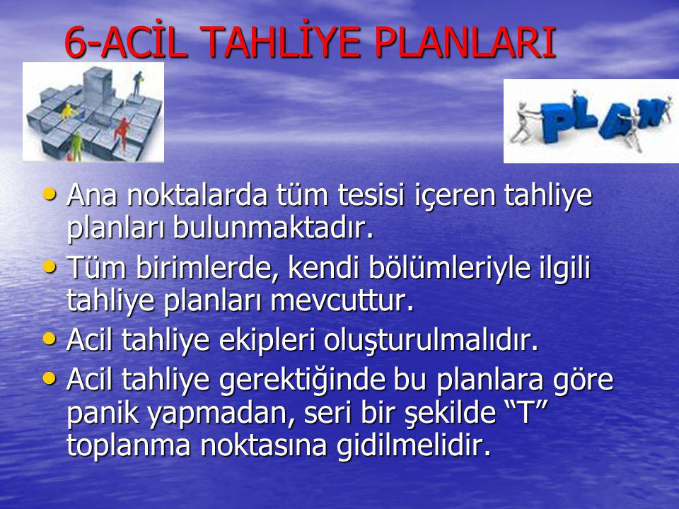 6-ACİL TAHLİYE PLANLARI