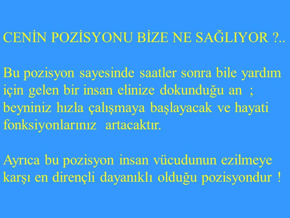 CENİN POZİSYONU BİZE NE SAĞLIYOR ..