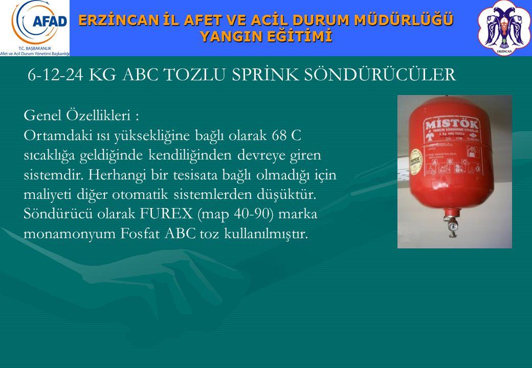 6-12-24 KG ABC TOZLU SPRİNK SÖNDÜRÜCÜLER