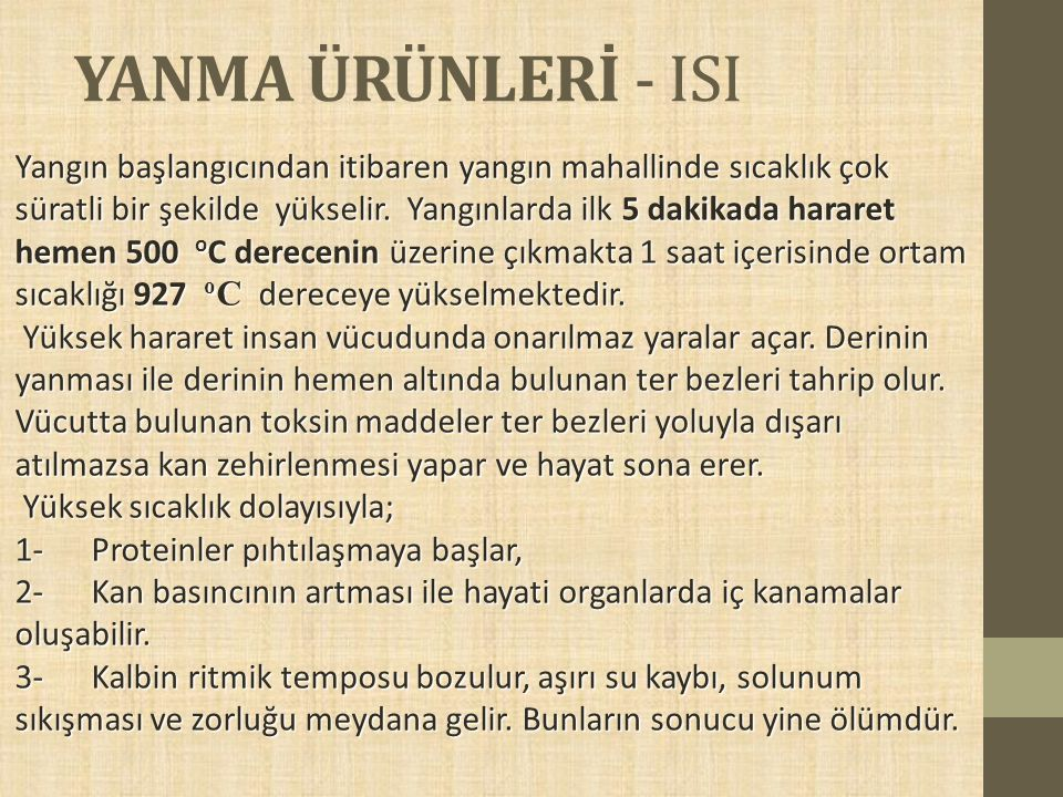YANMA ÜRÜNLERİ - ISI