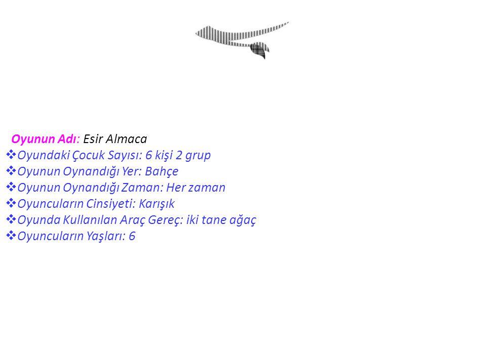 Oyunun Adı: Esir Almaca