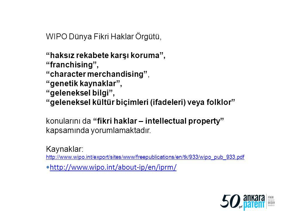 WIPO Dünya Fikri Haklar Örgütü,