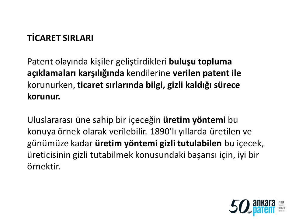 TİCARET SIRLARI