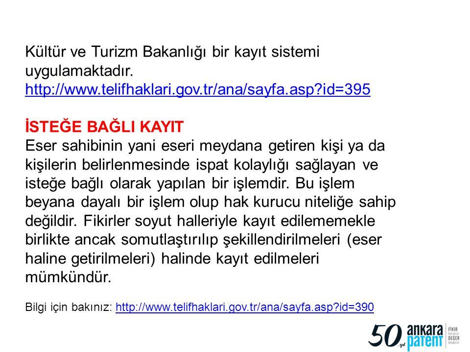 Kültür ve Turizm Bakanlığı bir kayıt sistemi uygulamaktadır.