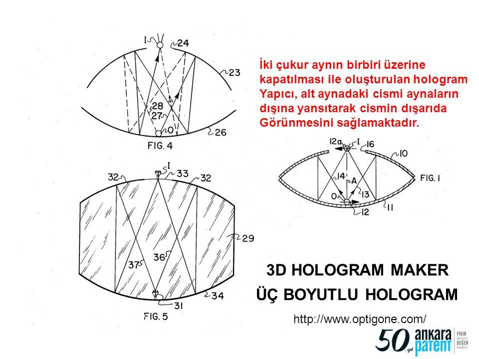 3D HOLOGRAM MAKER ÜÇ BOYUTLU HOLOGRAM İki çukur aynın birbiri üzerine
