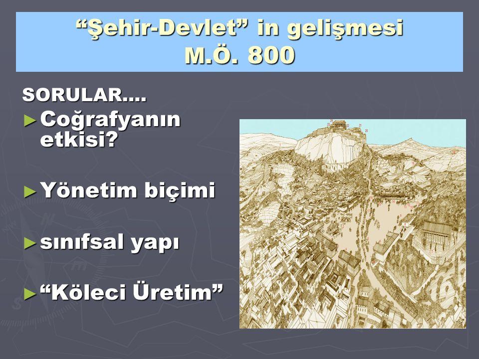 Şehir-Devlet in gelişmesi M.Ö. 800