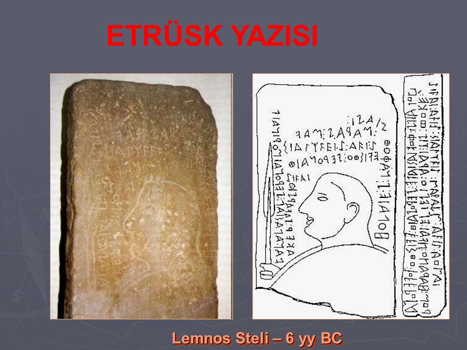 ETRÜSK YAZISI Lemnos Steli – 6 yy BC