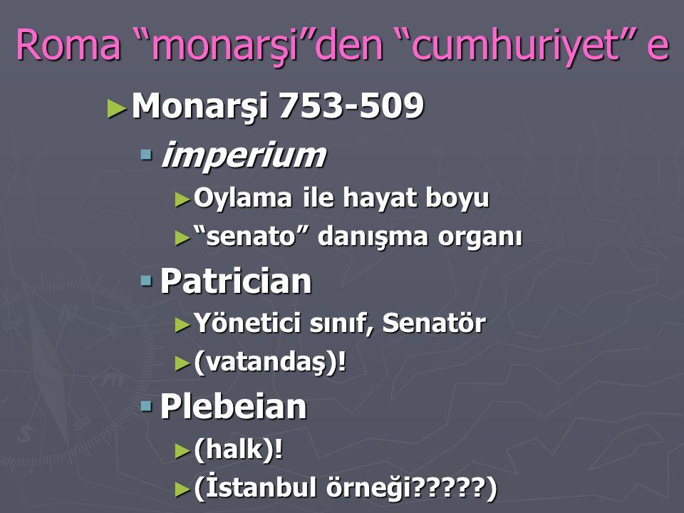 Roma monarşi den cumhuriyet e