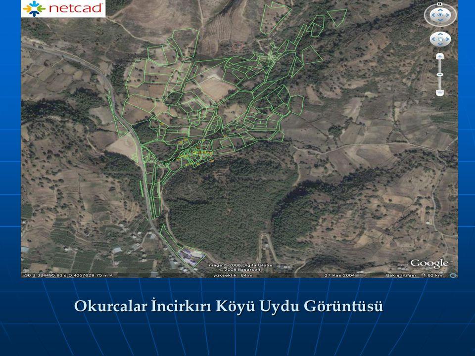Okurcalar İncirkırı Köyü Uydu Görüntüsü
