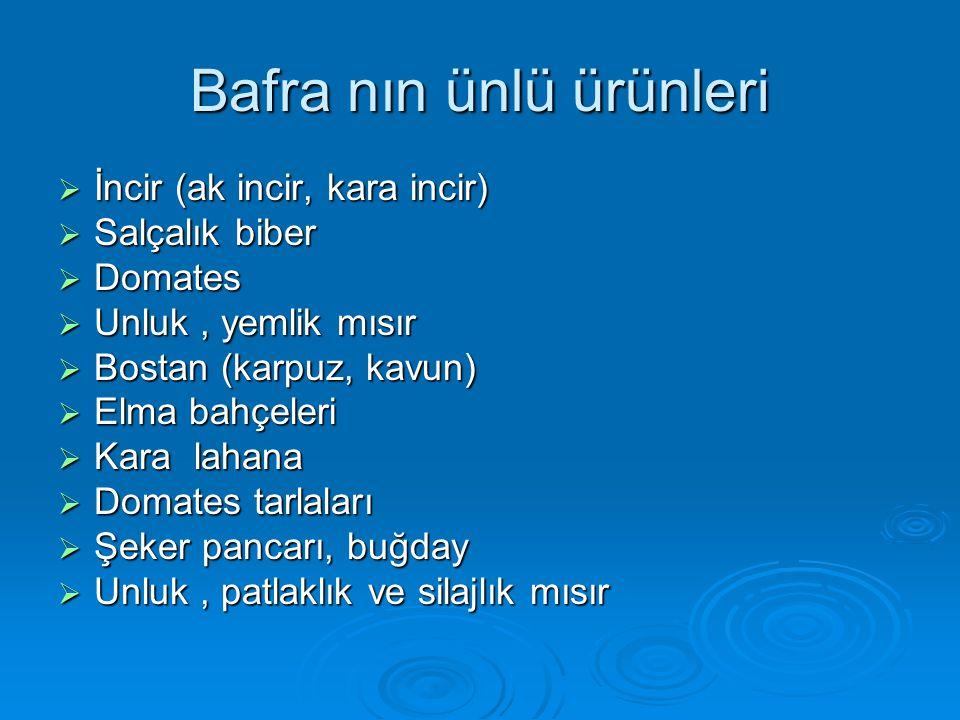Bafra nın ünlü ürünleri