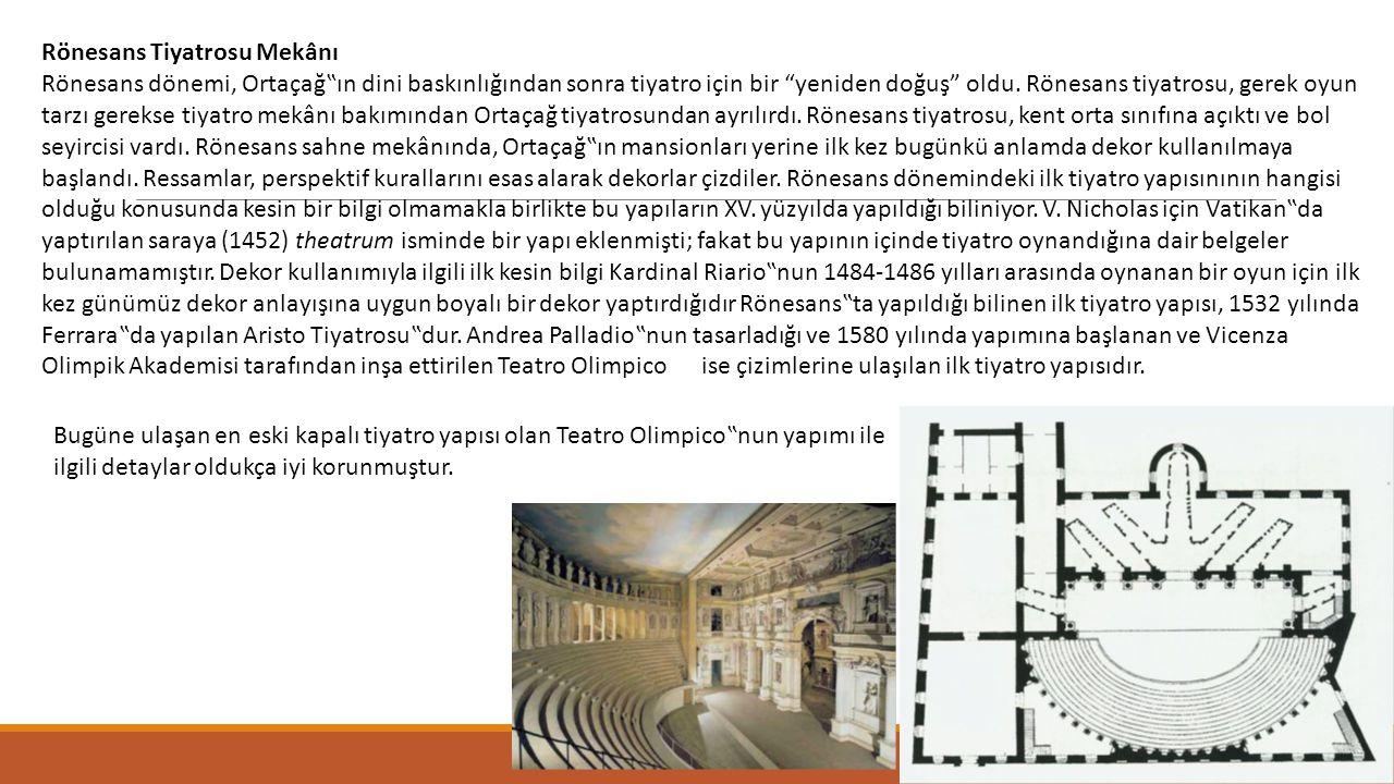 Rönesans Tiyatrosu Mekânı