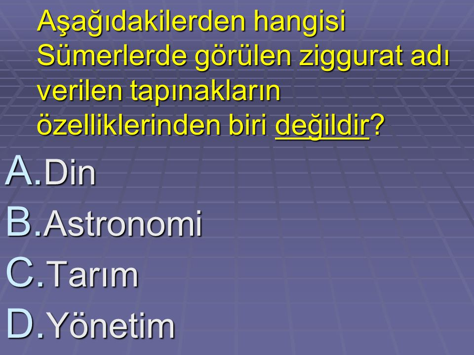 Din Astronomi Tarım Yönetim