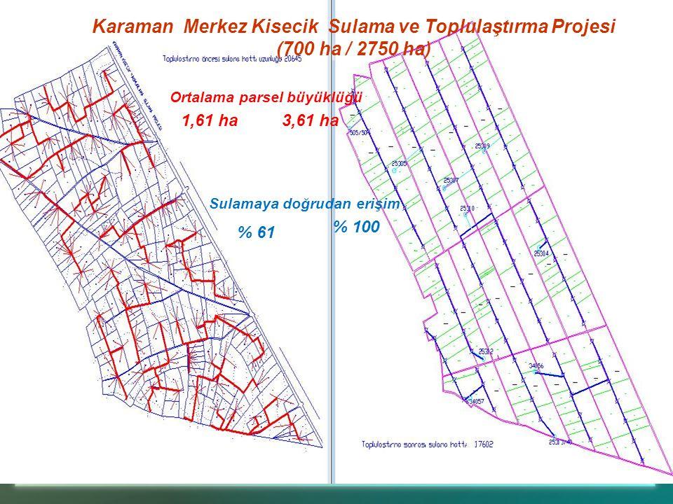 Karaman Merkez Kisecik Sulama ve Toplulaştırma Projesi