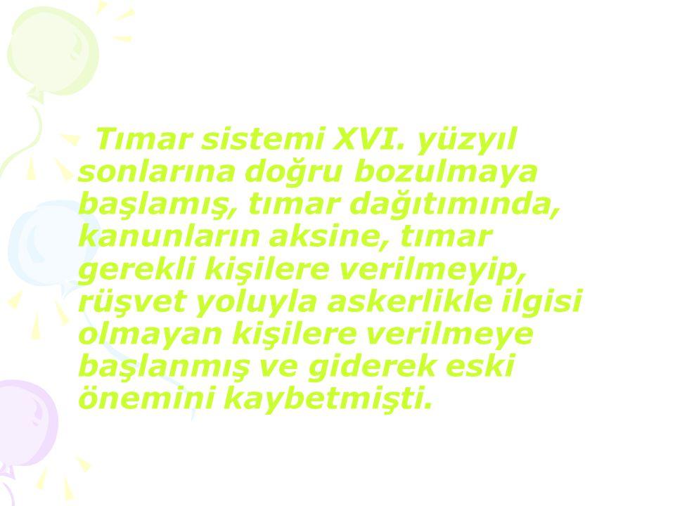 Tımar sistemi XVI.