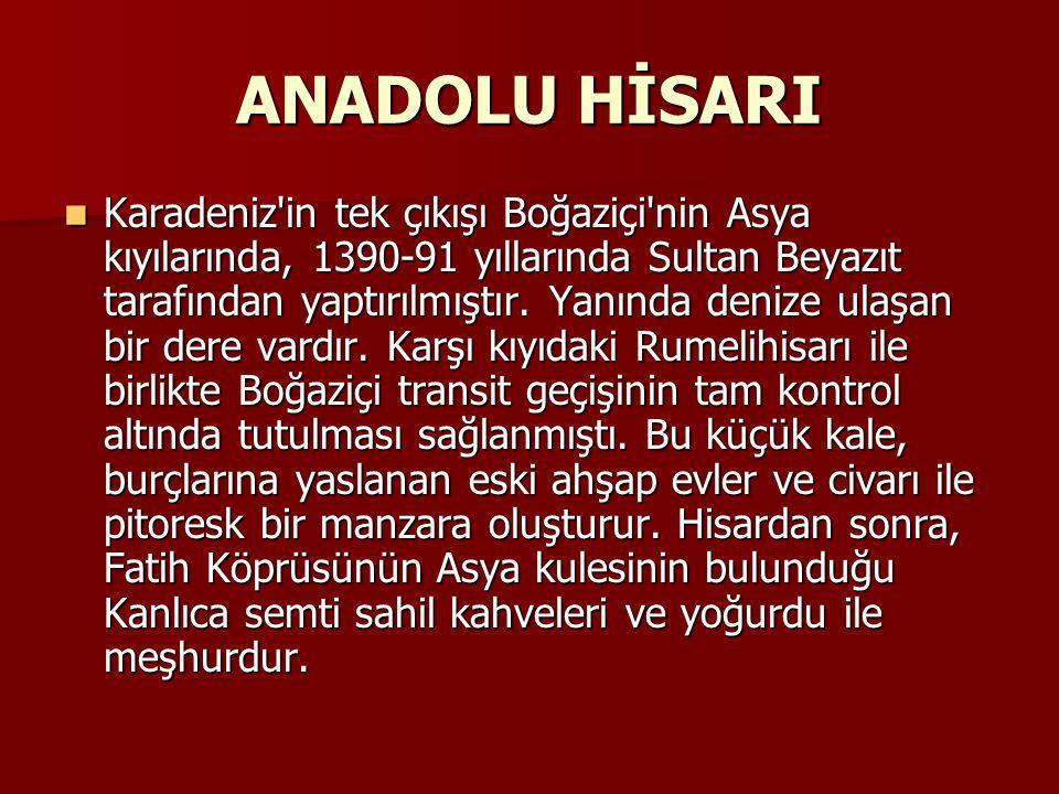 ANADOLU HİSARI