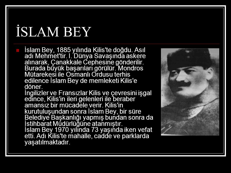 İSLAM BEY