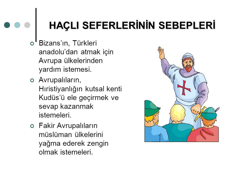 HAÇLI SEFERLERİNİN SEBEPLERİ