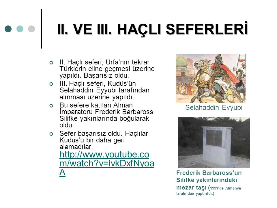 II. VE III. HAÇLI SEFERLERİ