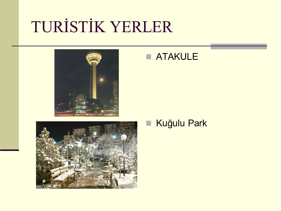 TURİSTİK YERLER ATAKULE Kuğulu Park