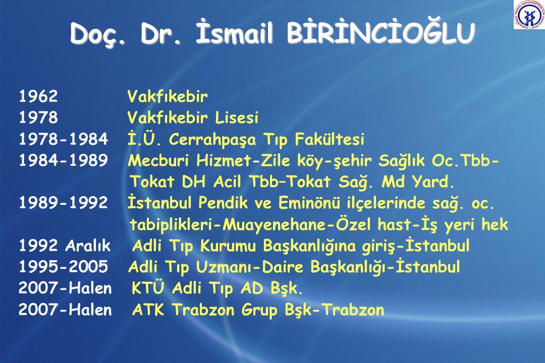 Doç. Dr. İsmail BİRİNCİOĞLU