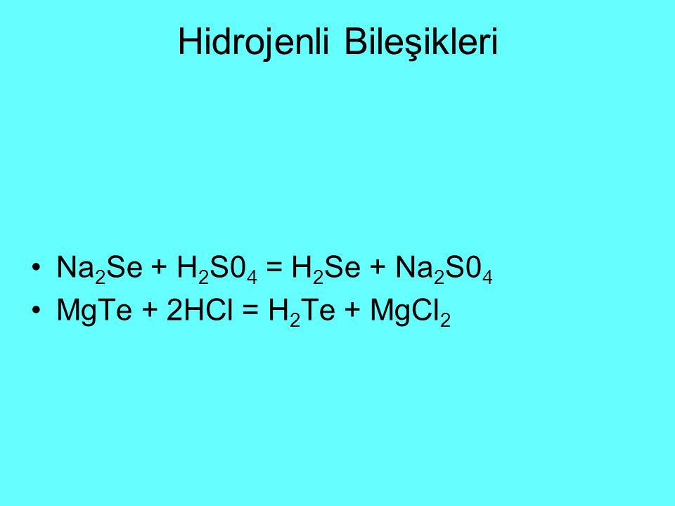 Hidrojenli Bileşikleri