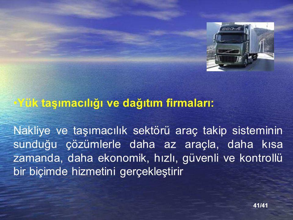Yük taşımacılığı ve dağıtım firmaları: