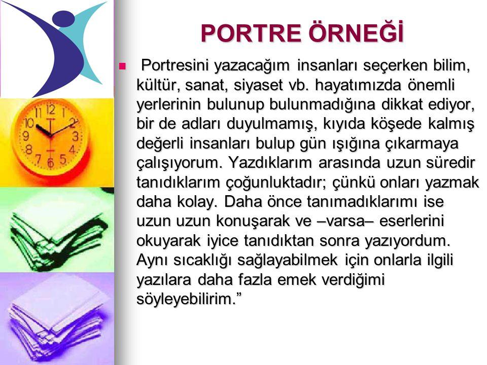 PORTRE ÖRNEĞİ
