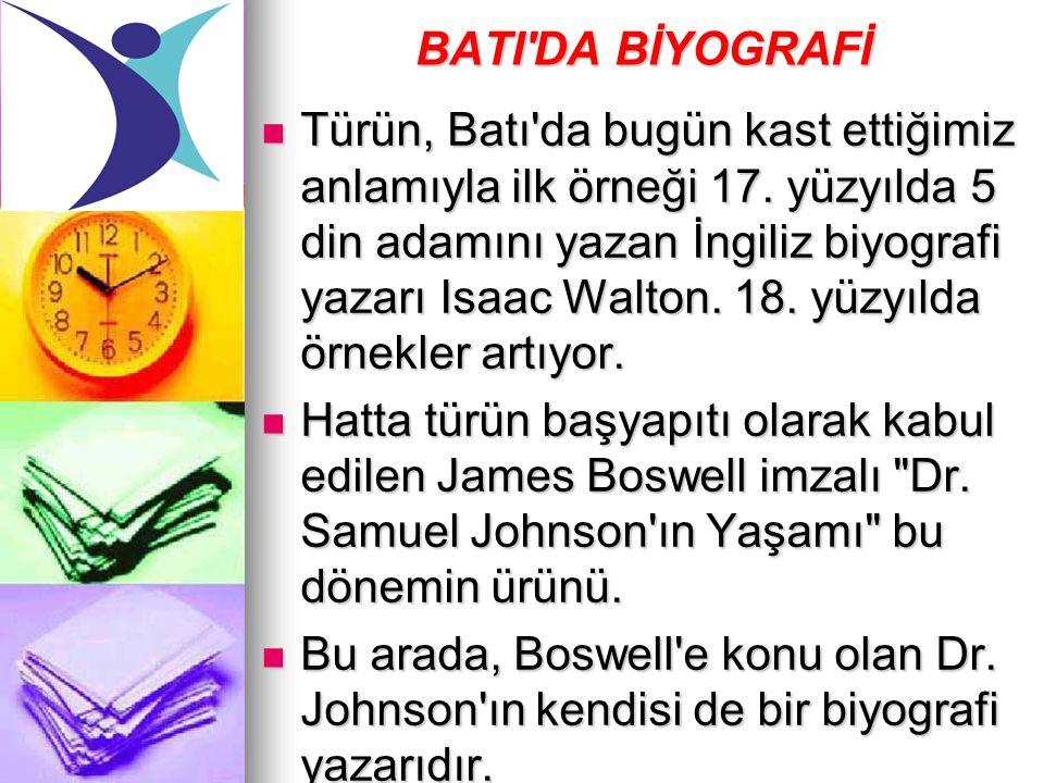 BATI DA BİYOGRAFİ