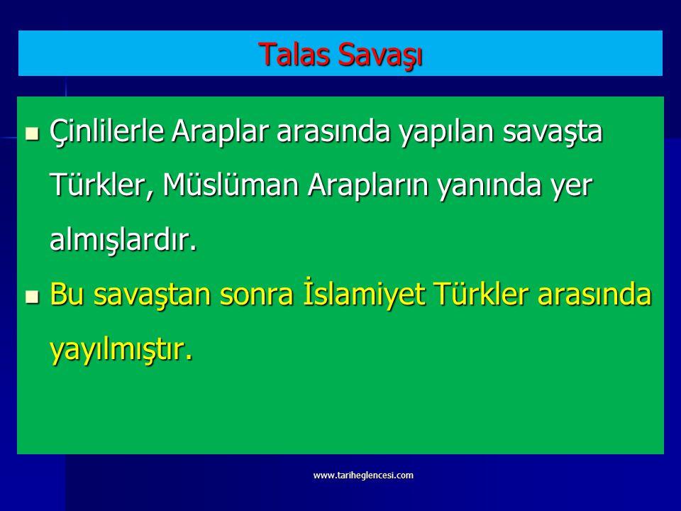 Bu savaştan sonra İslamiyet Türkler arasında yayılmıştır.