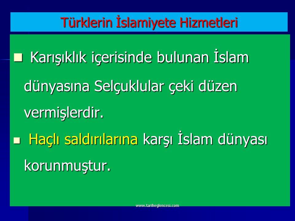 Türklerin İslamiyete Hizmetleri