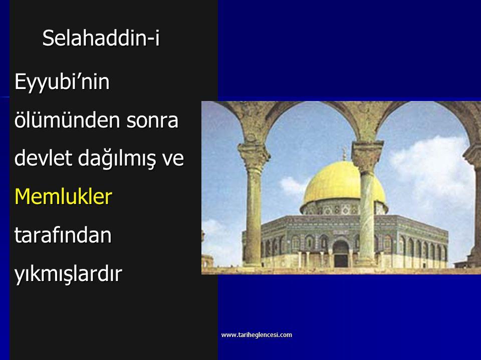 Selahaddin-i Eyyubi'nin ölümünden sonra devlet dağılmış ve Memlukler tarafından yıkmışlardır