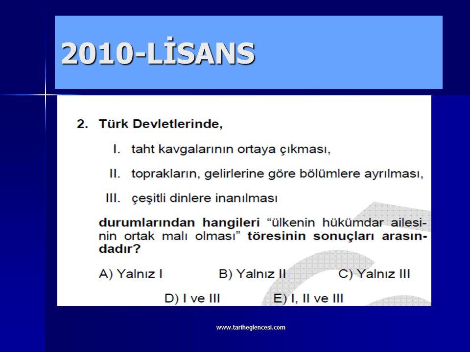 2010-LİSANS www.tariheglencesi.com