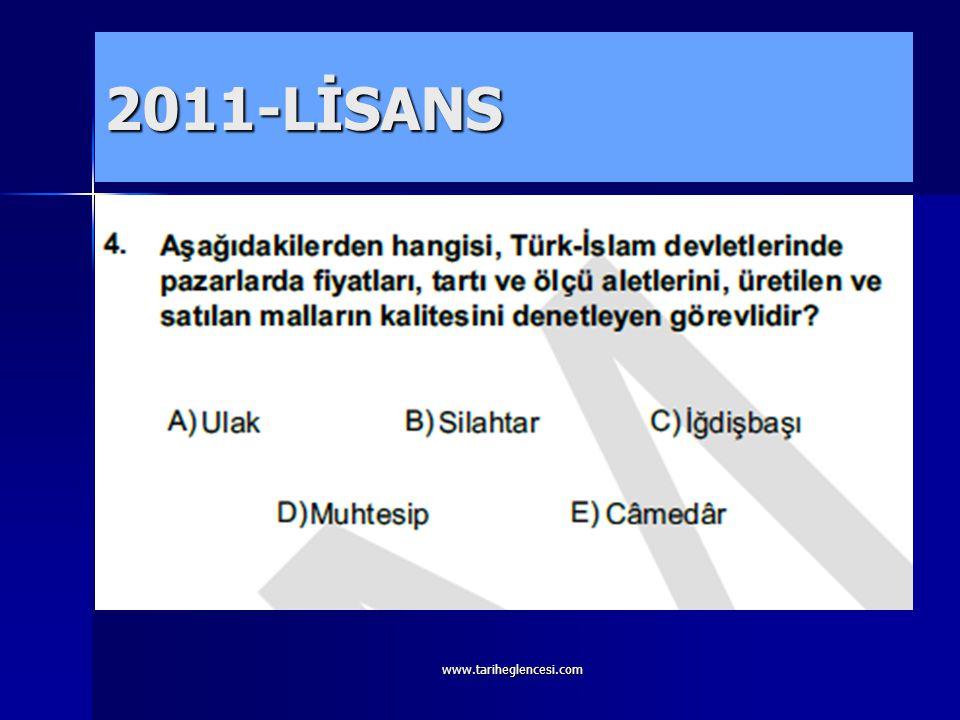 2011-LİSANS www.tariheglencesi.com