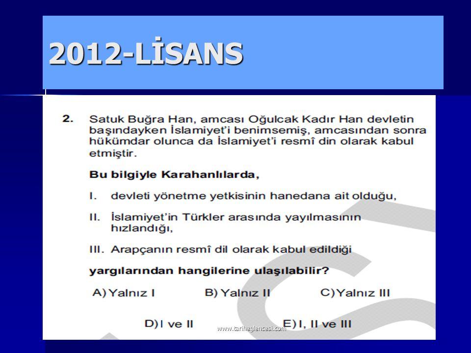2012-LİSANS www.tariheglencesi.com