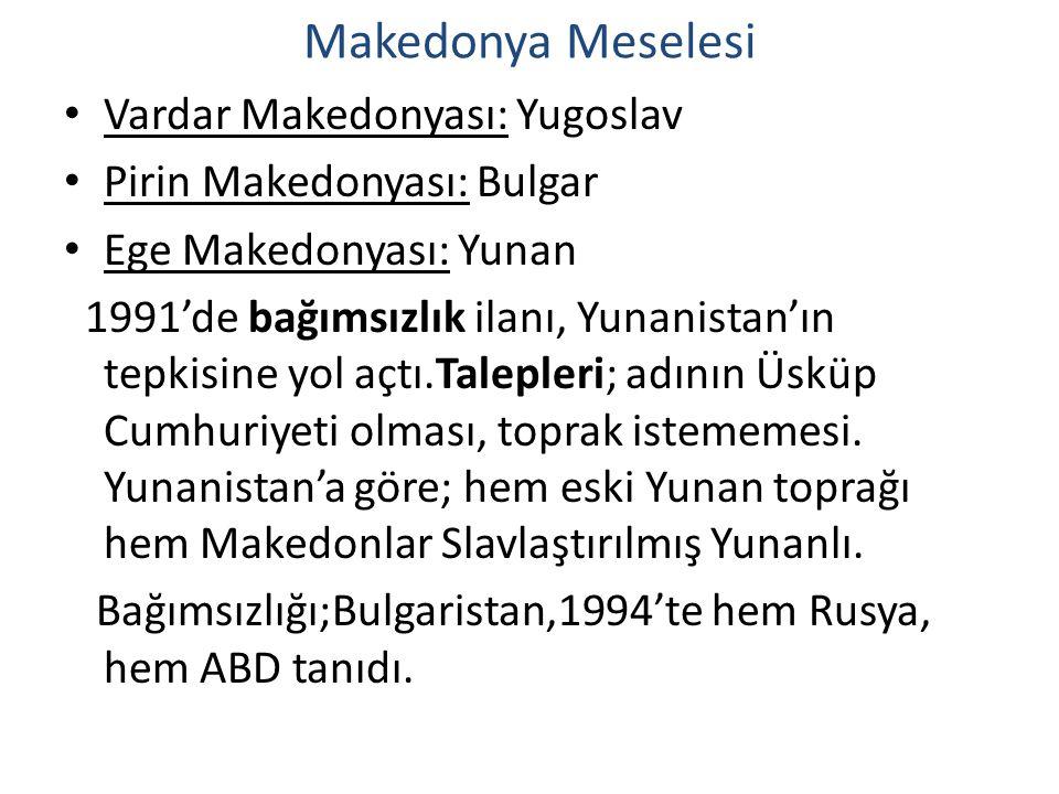 Makedonya Meselesi Vardar Makedonyası: Yugoslav