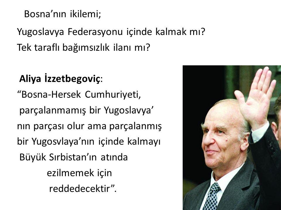Bosna'nın ikilemi;