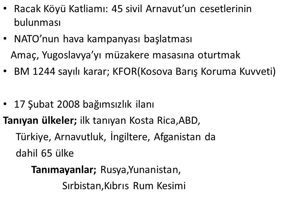 Racak Köyü Katliamı: 45 sivil Arnavut'un cesetlerinin bulunması